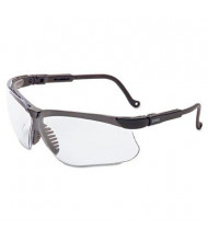 Uvex Genesis Safety Eyewear, Black Frame with Clear Lens