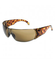 Uvex Women's Safety Glasses, Tortoise Shell Frame with Espresso Anti-Scratch Lens, 10/Box