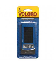 "Velcro 4"" x 2"" Industrial Strength Sticky-Back Hook & Loop Fastener Strips, Black"