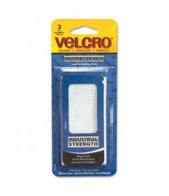 "Velcro 4"" x 2"" Industrial Strength Sticky-Back Hook & Loop Fastener Strips, White, 2/Set"