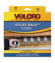 "Velcro 3/4"" x 30 ft. Sticky-Back Hook & Loop Fasteners in Dispenser, Black"