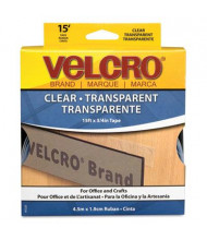 "Velcro 3/4"" x 15 ft. Sticky-Back Hook & Loop Fastener Tape Roll, Clear"