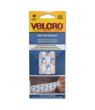 "Velcro 7-1/4"" x 3"" Wafer Thin Oval Hook & Loop Fasteners, White, 40/Pack"