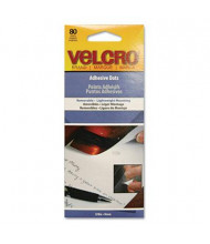 "Velcro 3/8"" Diameter Removable Adhesive Dots, 80/Pack"