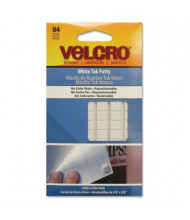 Velcro Removable Sticky Fix Tak, White, 84 Squares/Pack
