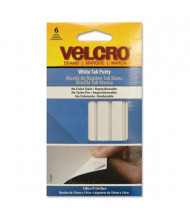 Velcro Sticky Fix Tak, White, 6 Bars/Pack