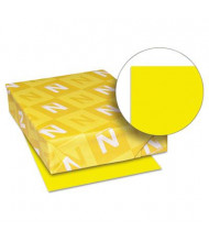 "Neenah Paper 8-1/2"" x 11"", 65lb, 250-Sheets, Solar Yellow Card Stock"