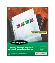 "Wilson Jones 8-1/2"" x 11"" Top-Load Super Heavy Weight Non-Glare Sheet Protectors, 50/Box"