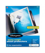 "Wilson Jones 8-1/2"" x 11"" Top-Load Heavy Weight Non-Glare Sheet Protectors, 50/Box"