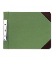 "Wilson Jones 2-3/4"" Center 8-1/2"" x 11"" Canvas Sectional Post Binder, Green"