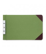 "Wilson Jones 2-3/4"" Center 8-1/2"" x 14"" Canvas Sectional Post Binder, Green"