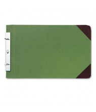 "Wilson Jones 4-1/4"" Center 8-1/2"" x 14"" Canvas Sectional Post Binder, Green"