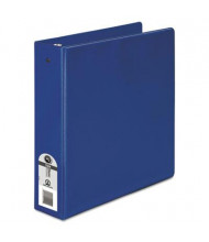 "Wilson Jones 1-1/2"" Capacity 8-1/2"" x 11"" Round Ring Basic Non-View Binder, Dark Blue"