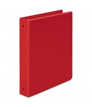 "Wilson Jones 1-1/2"" Capacity 8-1/2"" x 11"" Round Ring Basic Non-View Binder, Red"