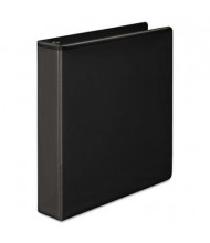 "Wilson Jones Basic 1-1/2"" Capacity 8-1/2"" x 11"" Straight Ring Vinyl View Binder, Black"