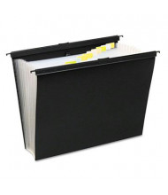 Wilson Jones 13-Pocket Slidebar Poly Pocket File, Black