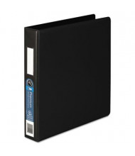 "Wilson Jones 1-1/2"" Capacity 8-1/2"" x 11"" Straight Ring 4-Pocket with Label Holder Non-View Binder, Black"