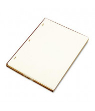 "Wilson Jones 8-1/2"" x 11"", 100-Sheets, Ivory Linen Minute Book Ledger Paper"