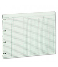 "Wilson Jones 11-7/8"" x 9-1/4"" 6-Column Loose Accounting Paper, 100-Sheets"