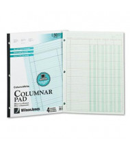 "Wilson Jones 8-1/2"" x 11"" 50-Page Side-Bound Accounting Pad, Four 8-Column"
