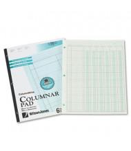 "Wilson Jones 8-1/2"" x 11"" 50-Page Side-Bound Accounting Pad, Six 6-Column"
