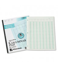 "Wilson Jones 8-1/2"" x 11"" 50-Page Side-Bound Accounting Pad, Eight 6-Column"
