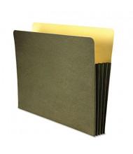 """Wilson Jones Letter 3-1/2"""" Expanding Recycled File Pocket, Green"""
