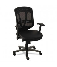 Alera Eon EN4215 Multifunction Mesh-Back Leather Mid-Back Managers Chair