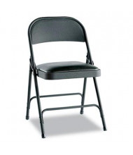 Alera FC94VY10B Padded-Seat Steel Folding Chair, 4-Pack