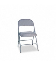 Alera FC94VY40LG Padded-Seat Steel Folding Chair, 4-Pack