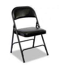 Alera FC96B Padded Steel Folding Chair, 4-Pack