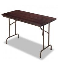 "Alera 48"" W x 24"" D Rectangular Wood Folding Table"