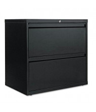 "Alera LF3029BL 2-Drawer 30"" Wide Lateral File Cabinet, Letter & Legal Size, Black"