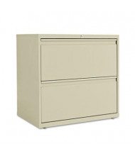 """Alera 2-Drawer 30"""" Wide Lateral File Cabinet, Letter & Legal Size, Putty"""