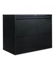 "Alera LF3629BL 2-Drawer 36"" Wide Lateral File Cabinet, Letter & Legal Size, Black"