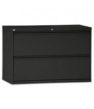 "Alera 2-Drawer 42"" Wide Lateral File Cabinet, Letter & Legal Size, Black"
