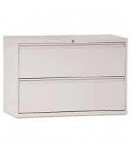 """Alera 2-Drawer 42"""" Wide Lateral File Cabinet, Letter & Legal Size, Light Gray"""