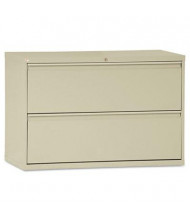 """Alera 2-Drawer 42"""" Wide Lateral File Cabinet, Letter & Legal Size, Putty"""