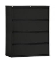 "Alera LF4254BL 4-Drawer 42"" Wide Lateral File Cabinet, Letter & Legal Size, Black"