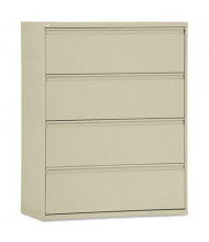 """Alera LF4254PY 4-Drawer 42"""" Wide Lateral File Cabinet, Letter & Legal Size, Putty"""