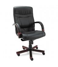 Alera Madaris MA41LS10M Knee-Tilt Leather Wood High-Back Office Chair