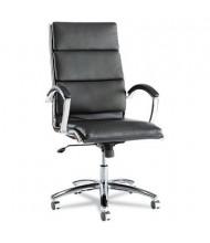 Alera Neratoli NR4119 Slim Profile Leather High-Back Executive Office Chair, Black