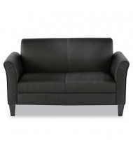 Alera RL22LS10B Leather Reception Lounge Love Seat