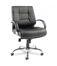 Alera Ravino RV45LS10C Big & Tall 450 lb. Leather Mid-Back Executive Chair