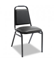 Alera SC68VY10B Padded Vinyl Stacking Chair, 4-Pack