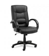 Alera Strada SR41LS Leather High-Back Executive Office Chair, Black