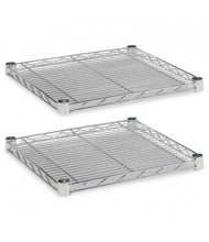 """Alera SW581818SR 18"""" W x 18"""" D 2-Pack Extra Wire Shelves, Silver"""