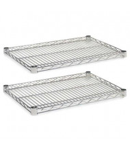 "Alera SW582418SR 24"" W x 18"" D 2-Pack Wire Shelves, Silver"