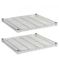 "Alera SW582424SR 24"" W x 24"" D 2-Pack Wire Shelves, Silver"