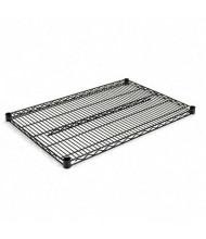 "Alera SW583624BL 36"" W x 24"" D 2-Pack Wire Shelves, Black"